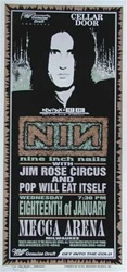Mark Arminski Nine Inch Nails Original Rock Concert Poster