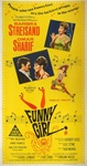 Funny Girl Original Australian Three Sheet