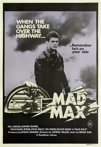 mad max original australian one sheet vintage movie poster mel gibson