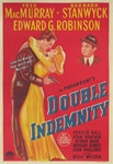 Double Indemnity Original Australian One Sheet