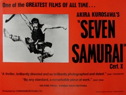 British Quad Seven Samurai Original Movie Poster
