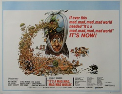 British Quad It's A Mad, Mad, Mad Mad World Original Movie Poster