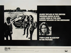 British Quad Two Lane Blacktop Original Movie Poster