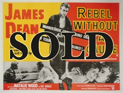 British Quad Rebel Without A Cause Original Movie Poster