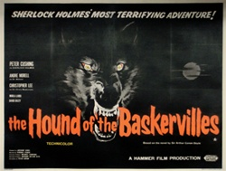 British Quad The Hound of the Baskervilles Original Movie Poster
