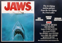 British Quad Jaws Original Movie Poster