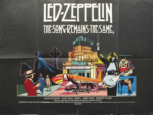 Led Zeppelin Song Remains The Same : british quad the song remains the same vintage movie poster led zeppelin ~ Russianpoet.info Haus und Dekorationen