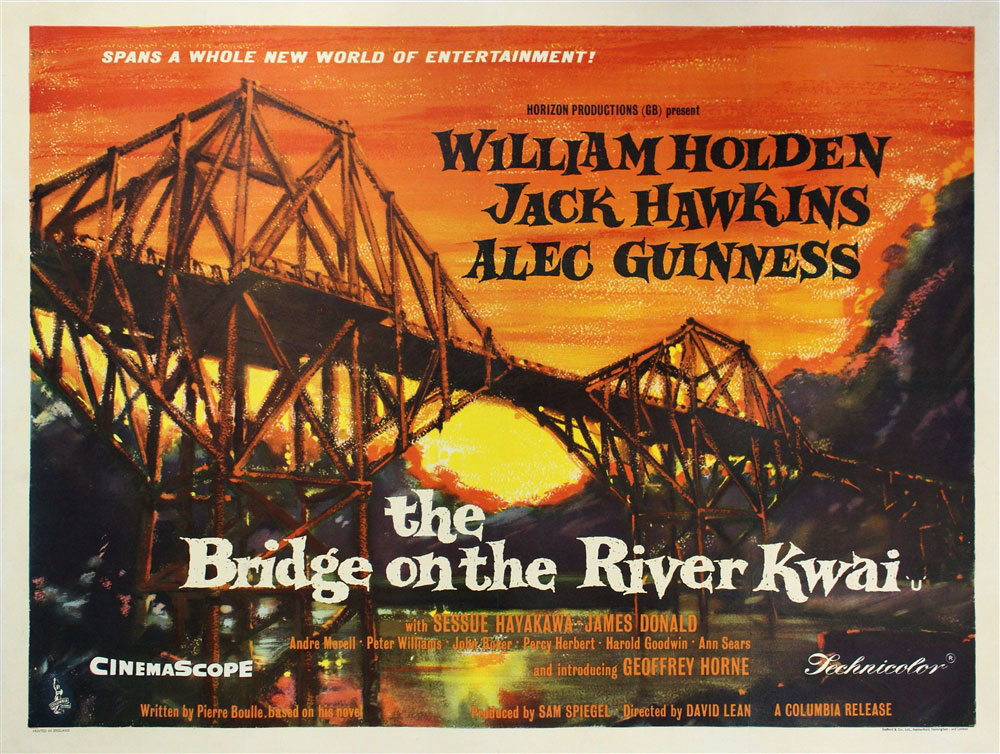 The British Quad Bridge On The River Kwai Vintage Movie Poster ...