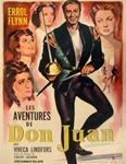 French Movie Poster Adventures of Don Juan