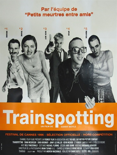 original french movie poster trainspotting vintage movie poster