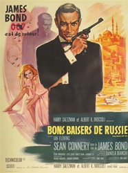 Original French Movie Poster From Russia With Love