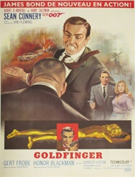 Original French Movie Poster Goldfinger