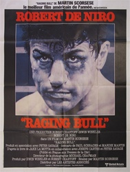 Original French Movie Poster Raging Bull