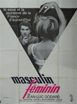 Original French Movie Poster Masculin Feminin