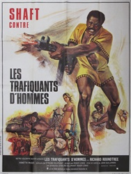 Original French Movie Poster Shaft In Africa