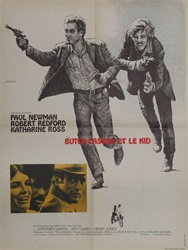 French Movie Poster Butch Cassidy And The Sundance Kid