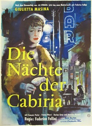 Nights Of Cabiria Original German Movie Poster