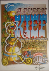 Rick Griffin Puff of Kief Signed Poster