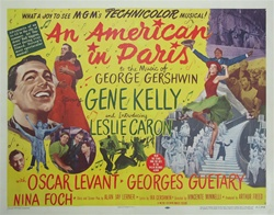 An American In Paris Original US Half Sheet