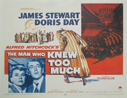 The Man Who Knew Too Much US Half Sheet
