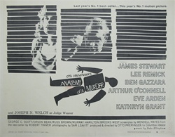 Anatomy of a Murder Original US Half Sheet