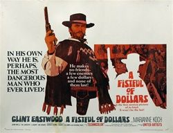 Fistful Of Dollars Original US Half Sheet