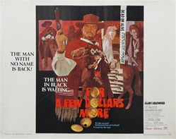 For A Few Dollars More Original US Half Sheet