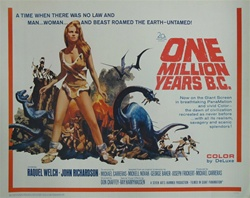 One Million Years B.C. Original US Half Sheet