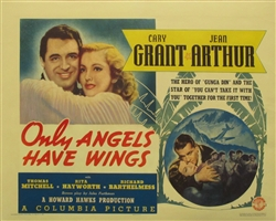 Only Angels Have Wings Original US Half Sheet