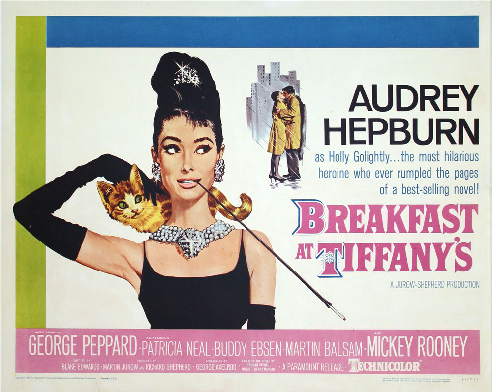 Breakfast At Tiffany's Original US Half Sheet Vintage Movie Poster ...