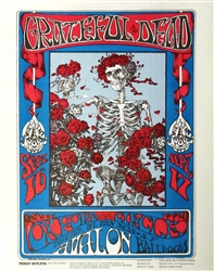 FD 26 Skull and Roses Grateful Dead Original Concert Handbill
