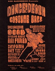 Dance of Death Costume Ball Original Concert Handbill