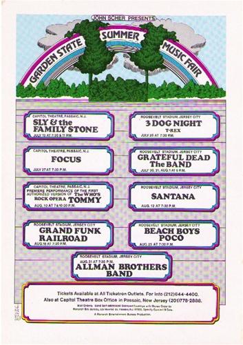 Roses In Garden: Garden State Summer Music Fair Original Concert Postcard