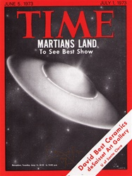 Time Martians Land Original Handbill