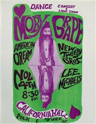 Moby Grape Original Concert Handbill