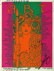 Art Benefit 1 Original Signed Handbill