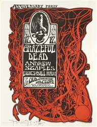 The Old Cheese Factory Grateful Dead Original Concert Handbill