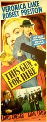 This Gun For Hire Original US Insert