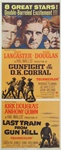 Gunfight at the O.K. Corral/Last Train From Gun Hill Original US Insert