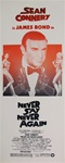 Never Say Never Again Original US Insert
