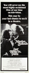 Last Tango In Paris Original US Insert