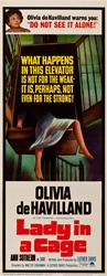Lady In A Cage Original US Insert