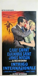 North By Northwest Original Italian Locandina