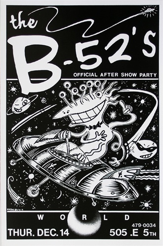 Frank kozik the b52s original concert poster
