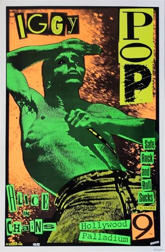 Frank Kozik Iggy Pop Original Concert Poster
