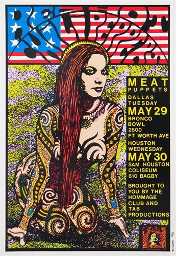 Frank Kozik The Red Hot Chili Peppers Original Concert Poster