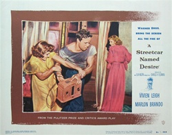 A Streetcar Named Desire Original US Lobby Card
