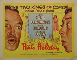 Paris Holiday Original US Title Lobby Card