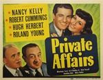 Private Affairs Original US Title Lobby Card
