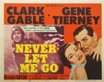 Never Let Me Go Original US Title Lobby Card